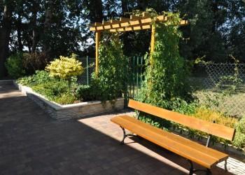 ławka, ogród